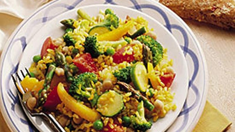 Spring Vegetable Paella