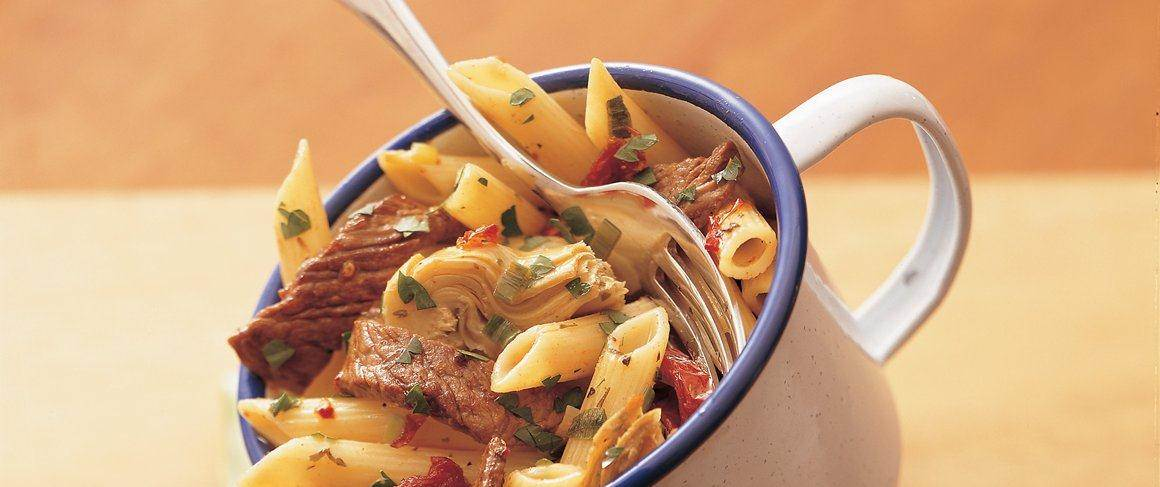 Penne With Beef And Sun Dried Tomatoes Recipe From Betty Crocker