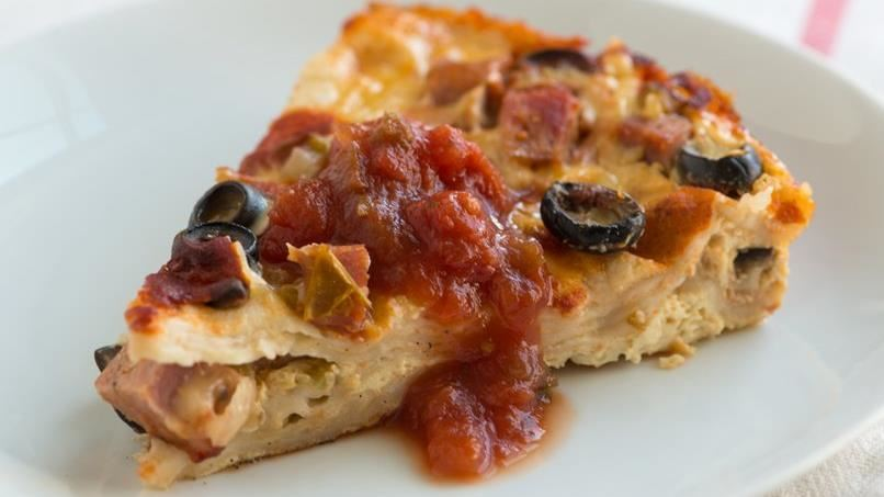 Tortilla Casserole with Smoked Sausage