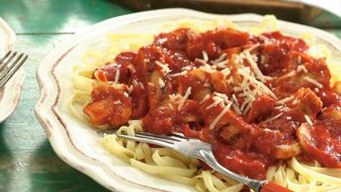 Linguine with Cacciatore Sauce