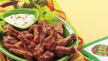 Spicy Honeyed Chicken Drummettes