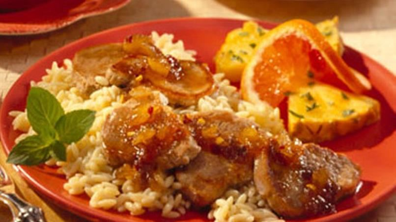 Pork Medallions With Hot Pineapple Glaze