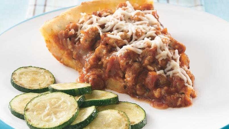 Italian Sausage-Mashed Potato Pie