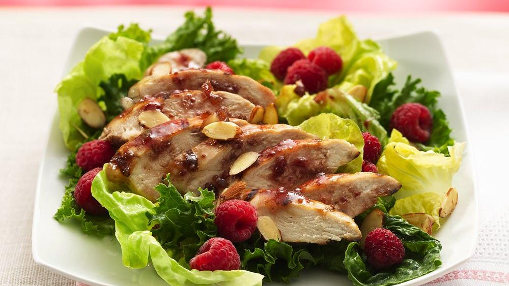 Grilled Raspberry-Chipotle Chicken Salad
