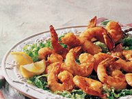 Grilled Skewered Shrimp with Apricot-Curry Glaze
