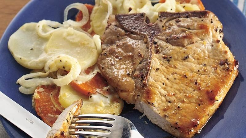 Swiss Pork Chop and Potato Casserole