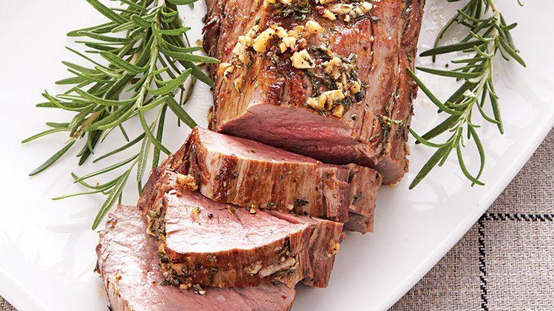 Beef Tenderloin with Thyme-Horseradish Cream