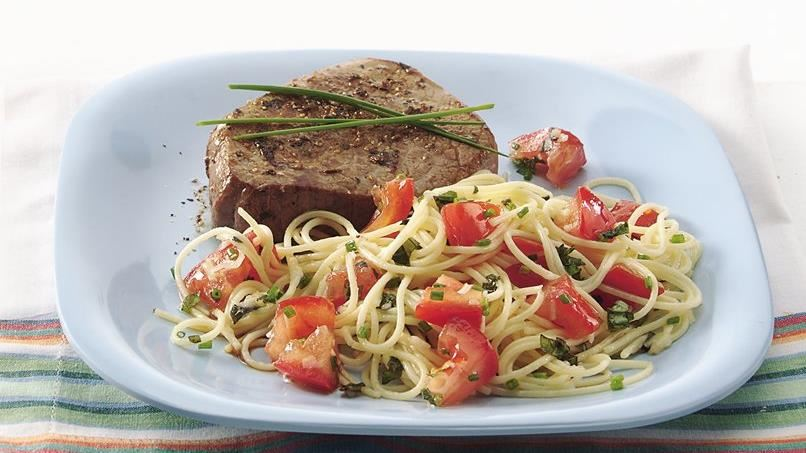Vermicelli with Fresh Herb-Tomato Sauce