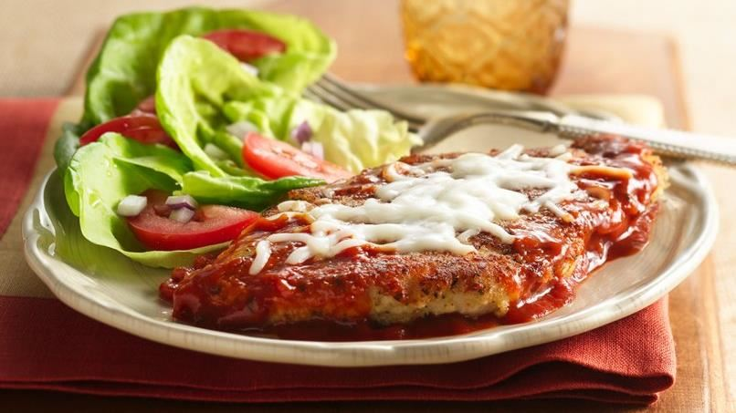 Hearty Tomato Skillet Chicken Parmigiana