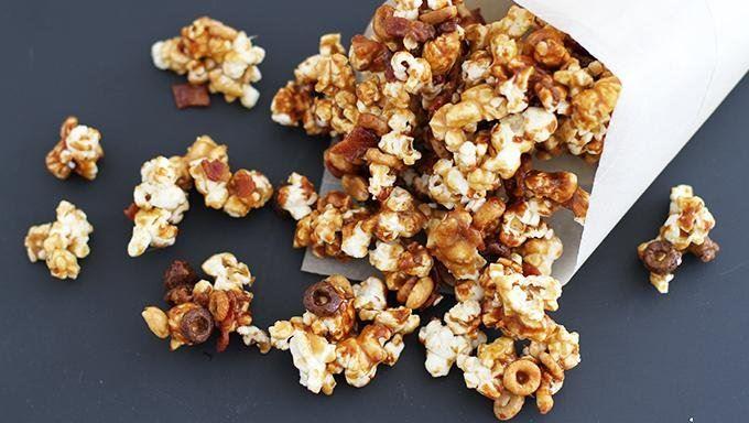 Chocolate Caramel Bacon Popcorn recipe - from Tablespoon!