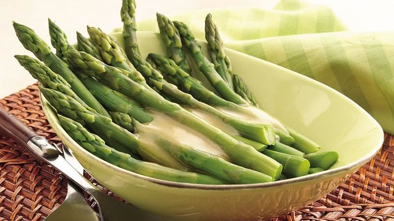 Asparagus with Maple-Mustard Sauce