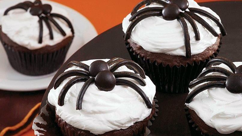 Black Spider Cupcakes