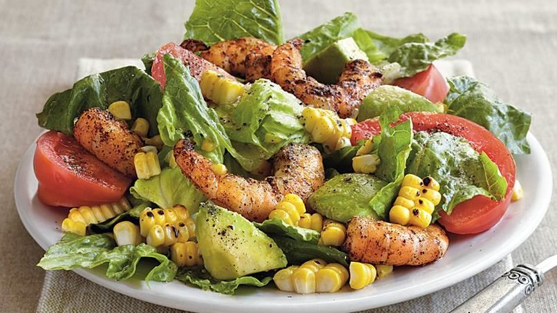 Grilled Southwestern Shrimp Salad