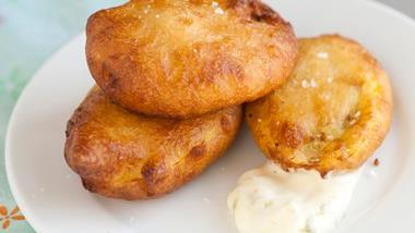 Beer-Battered Squash Chips with Lemon Mayonnaise