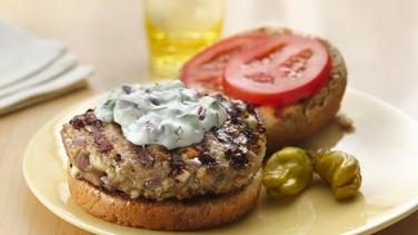 Greek Turkey Burgers with Tzatziki Sauce