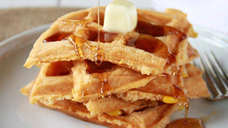 Spicy Sweet Corn Waffles