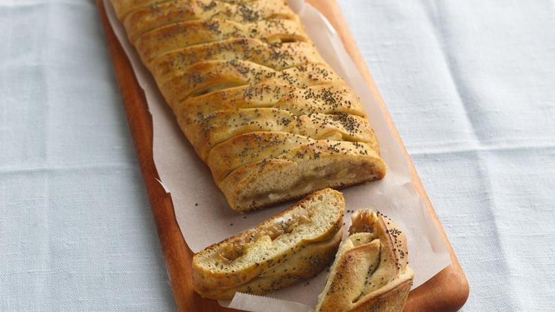 Asiago Cheese and Onion Braid