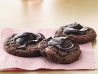 Fudgy-Topped Chocolate-Cherry Cookies