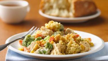 Chicken and Vegetable Alfredo