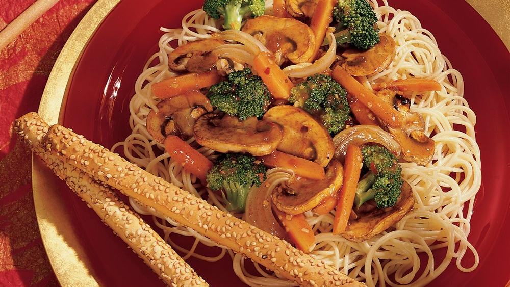 Five-Spice Mushroom and Broccoli Stir-Fry
