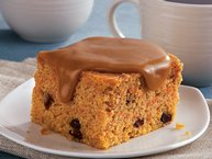 Caramel and Carrot Snack Cake