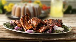 Grilled Pork Ribs with Chipotle Barbecue Sauce