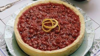 Honey-Wine-Cranberry Tart