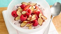 Berry-Almond Cherry Yogurt Bowl