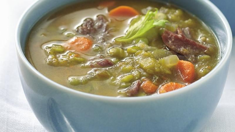 Slow-Cooker Split Pea Soup recipe from Betty Crocker
