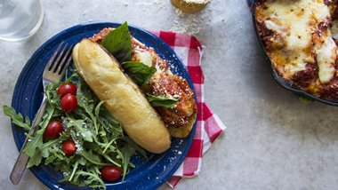 Zucchini Parmesan Hoagies