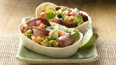 Zesty Steak & Avocado Stand 'N Stuff™ Soft Tacos