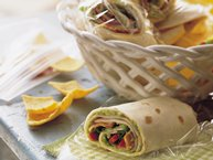 Turkey, Bacon and Guacamole Wraps