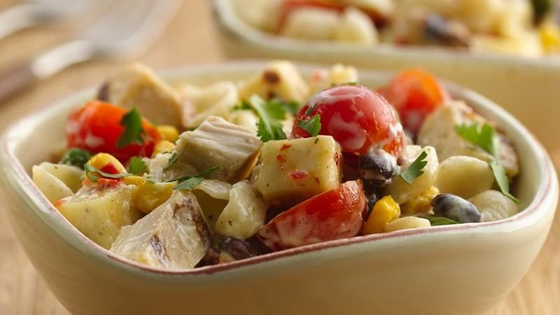 Southwest Chicken Ranch Pasta Salad