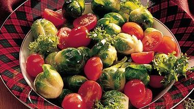 Cherry Tomato-Brussels Sprouts Salad