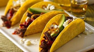 Slow-Cooker Spicy BEERbacoa Tacos