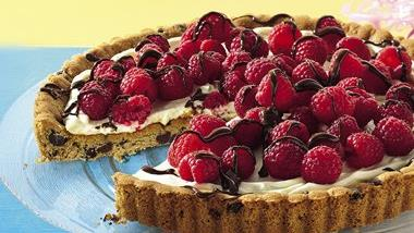 Raspberry Cookie Tart