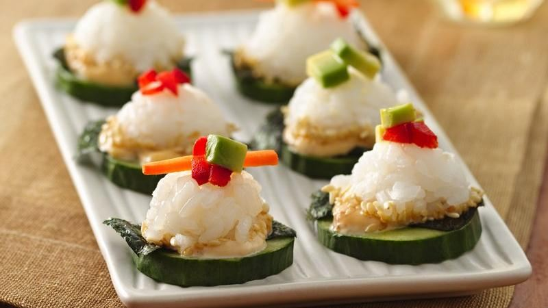 California sushi canap s recipe from betty crocker for How to make canape