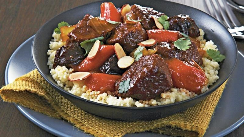 Slow-Cooker Spiced Lamb Tagine