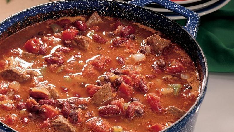Sirloin Three-Bean Chili