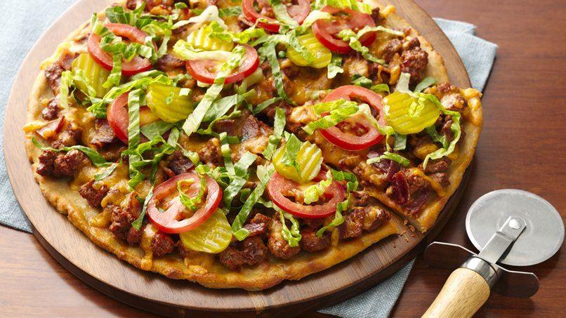 Gluten-Free Bacon Cheeseburger Pizza