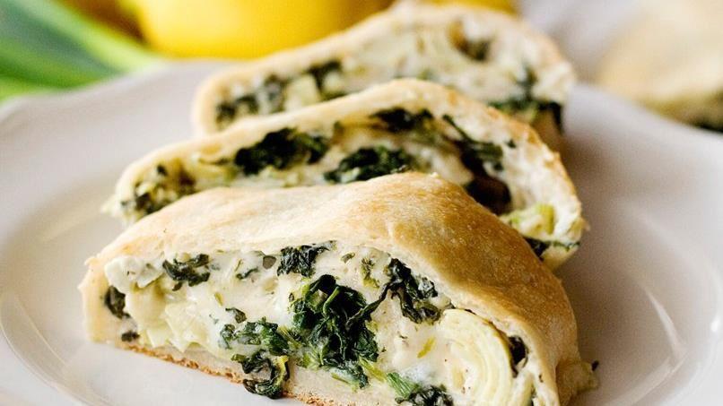 Spinach and Artichoke Stuffed Bread