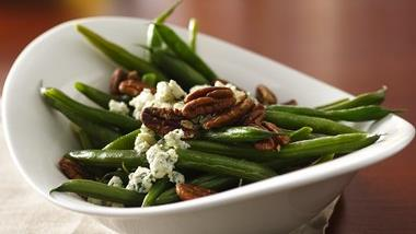 Blue Cheese Pecan Green Beans