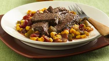 Cajun Pot Roast with Maque Choux