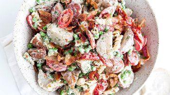 Potato Pasta Caesar Salad