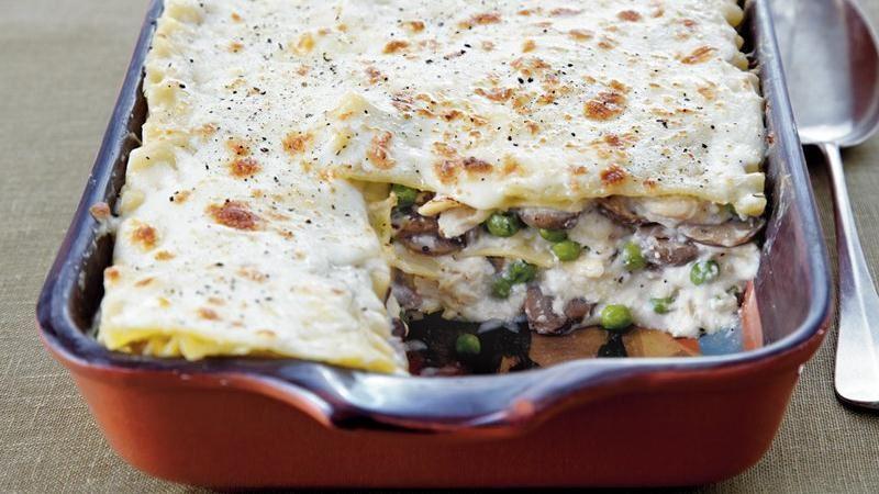 Turkey Tetrazzini Lasagna