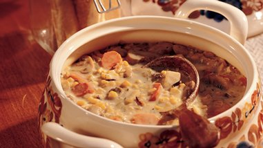 Creamy Wild Rice and Vegetable Chowder