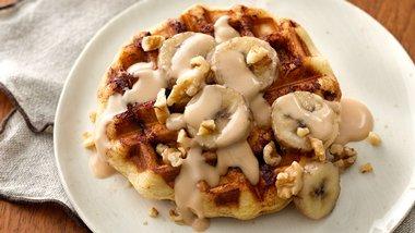 Chai-Glazed Cinnamon Waffles