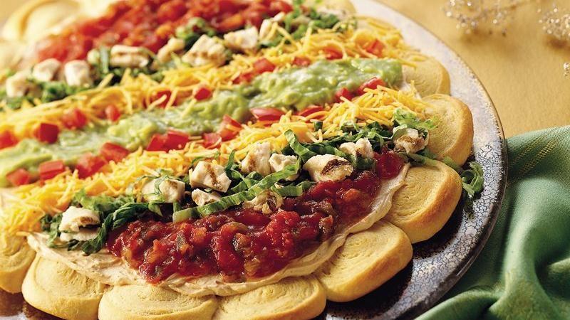 Chicken Taco Crescent Pizza