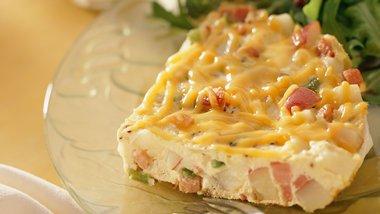 Gluten-Free Hickory Ham and Potato Frittata