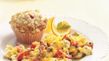 Lemon Raspberry Streusel Muffins
